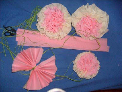 Trop fiere de mes fleurs en papier cr pon ma vie - Fleur en papier crepon facile ...